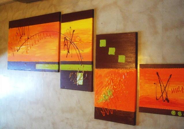 tableau pour une commande wengué orange et anis · tableau HOME DECO ...