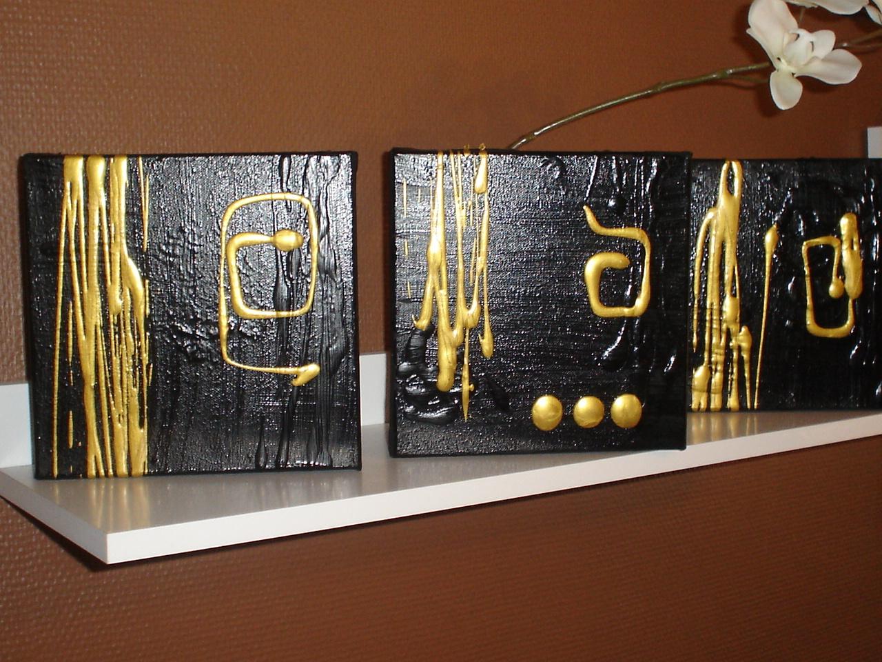 tryptique 3d blackgold kdo pour les fetes de noel 20 euros tableau home deco de sabine. Black Bedroom Furniture Sets. Home Design Ideas