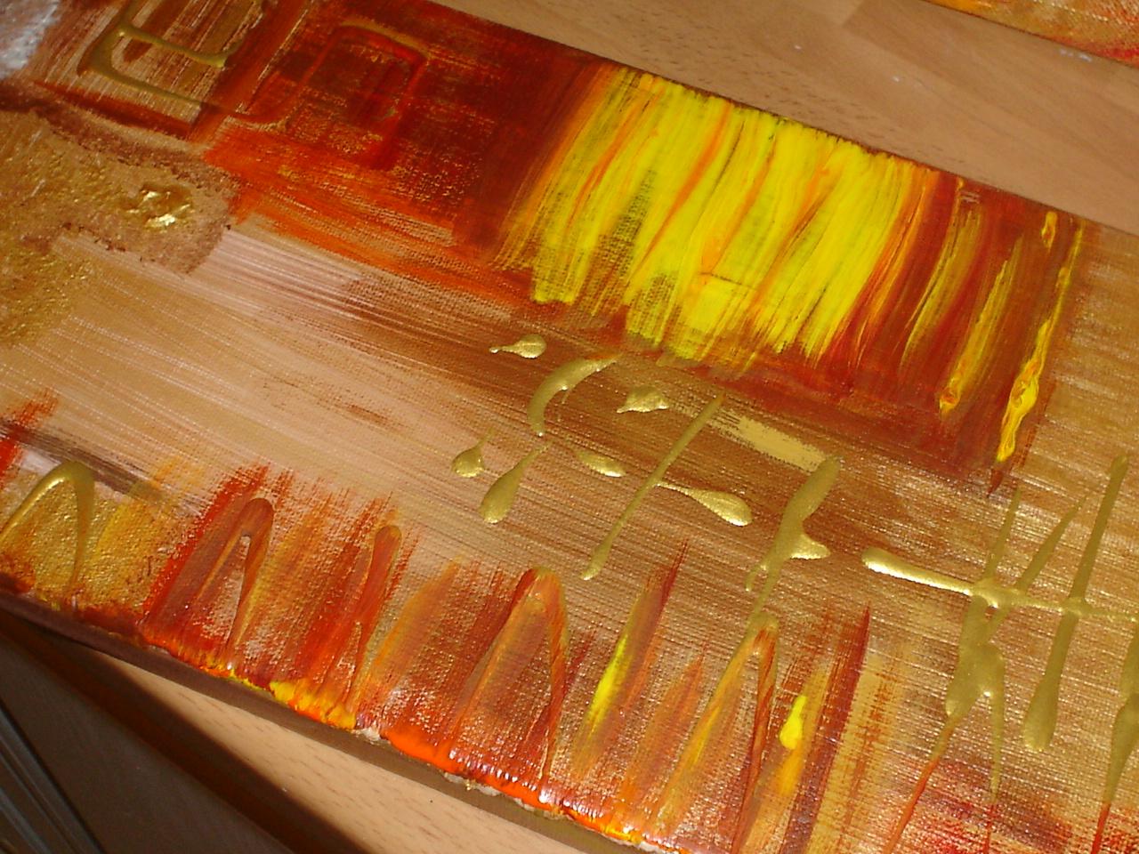 Couleur chaude pour une atmosphere zen tableau home deco - Tableau couleur chaude ...