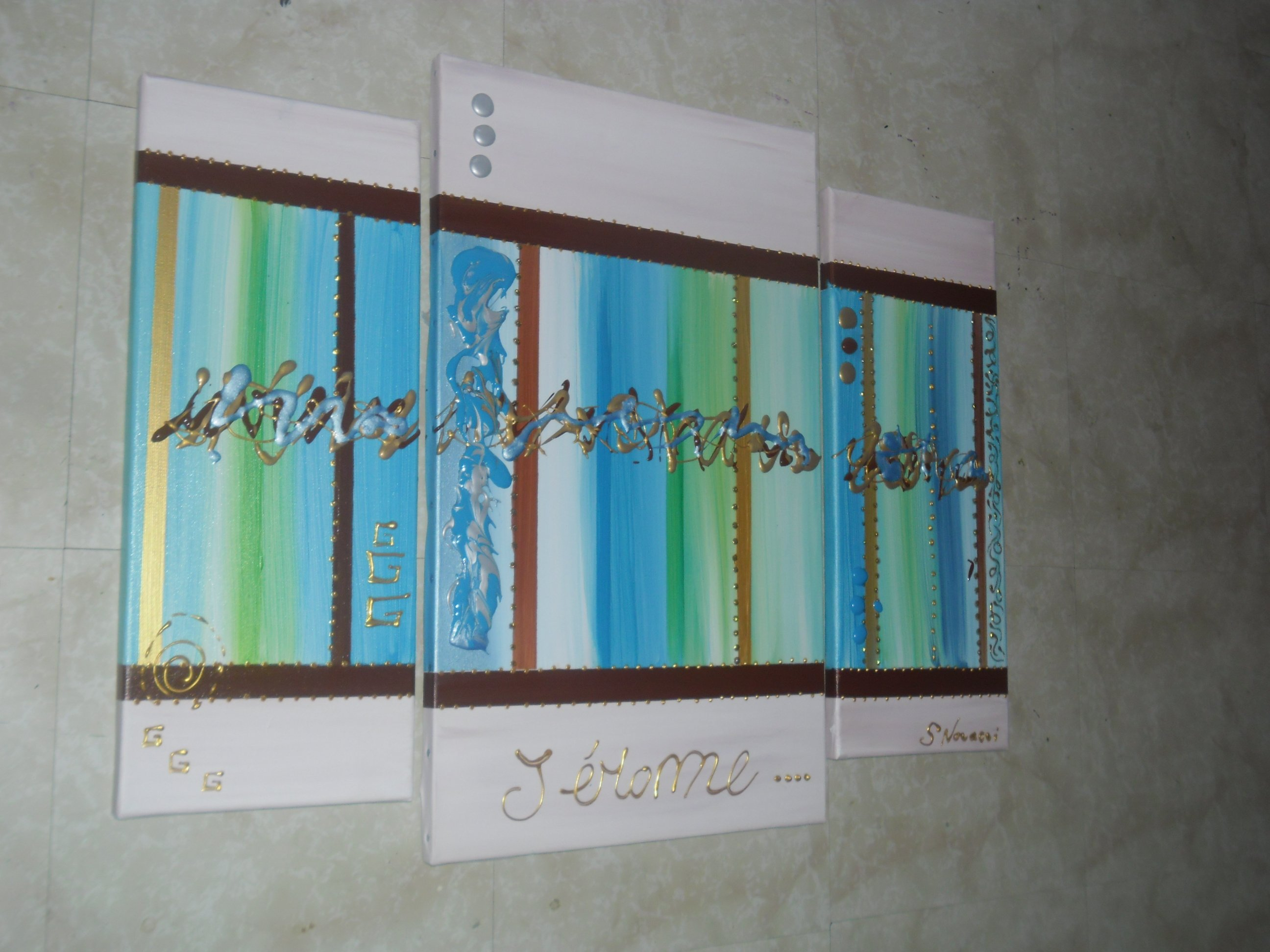 Couleur chambre bebe marron for Gris turquoise peinture